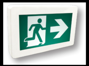 ameleco-electrical-supply-wholesale- store-Etlin-Daniels Pictogram Exit Light - Running Man Sign EX200WH-A13BB-GU