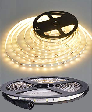 LED Strip, DC12V, 24W 300 LED, WW LR1008, 3528, per 5m