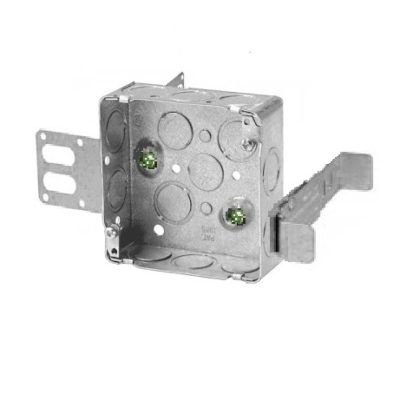 Steel Stud Box - 4 Square - knockouts- Wraparound - CSA Standard Approved